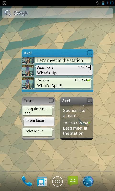 Widgets for Whatsapp™ (ROOT!) screenshot 2