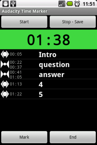 Time Markers for Audacity 0 3 3 Download APK for Android - Aptoide