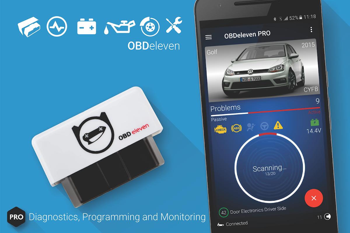 OBDeleven PRO car diagnostics app VAG OBD2 Scanner screenshot 1