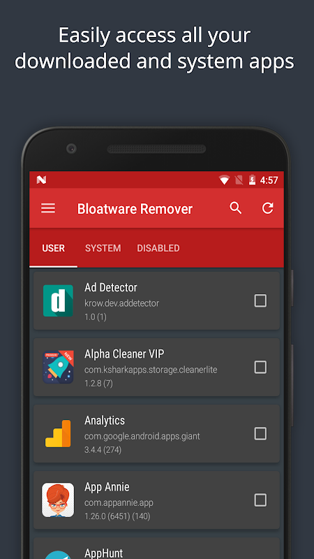 Bloatware Remover Free [Root] screenshot 2