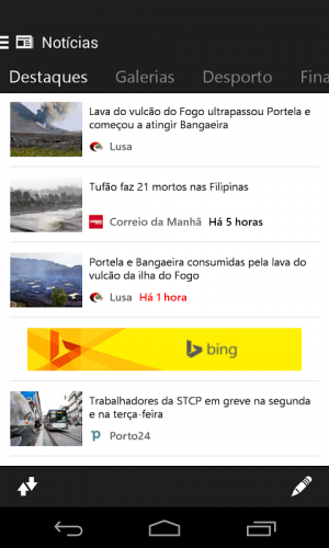 Microsoft Notícias screenshot 1