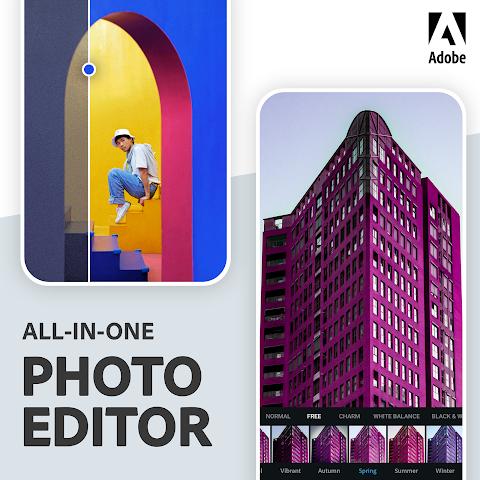 Adobe Photoshop Express: Editor de fotos Colagens screenshot 7