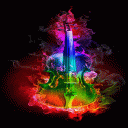 Multicolor Fire Guitar LWP