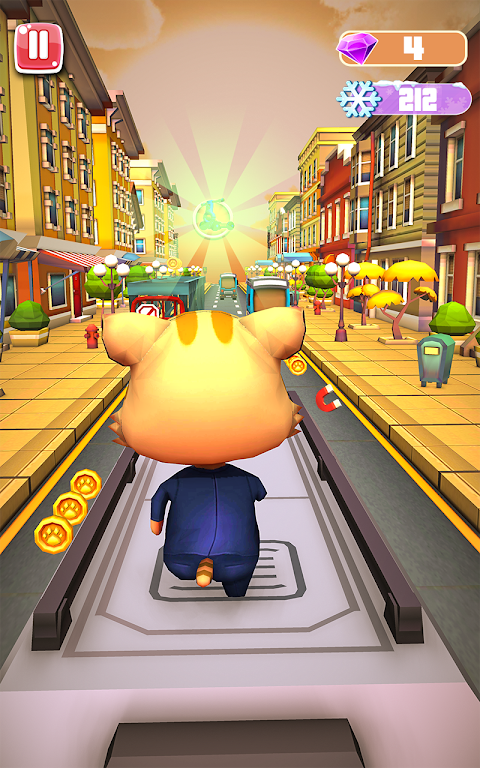 Cat and Jerry surf the subway Dash screenshot 2
