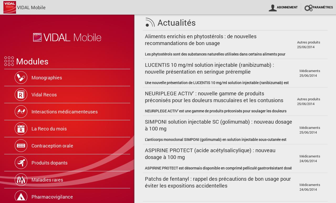VIDAL Mobile screenshot 1