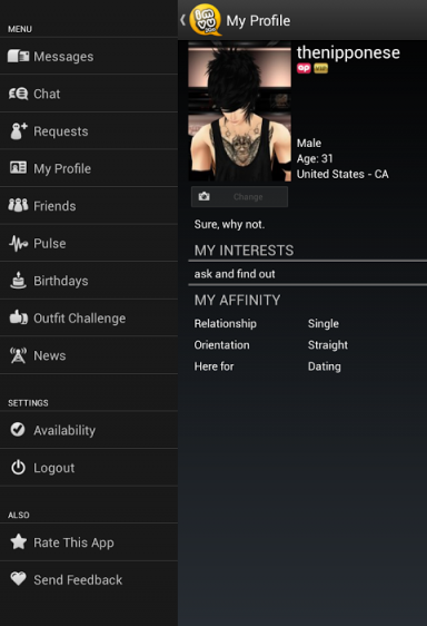 how to go to your room on imvu mobile