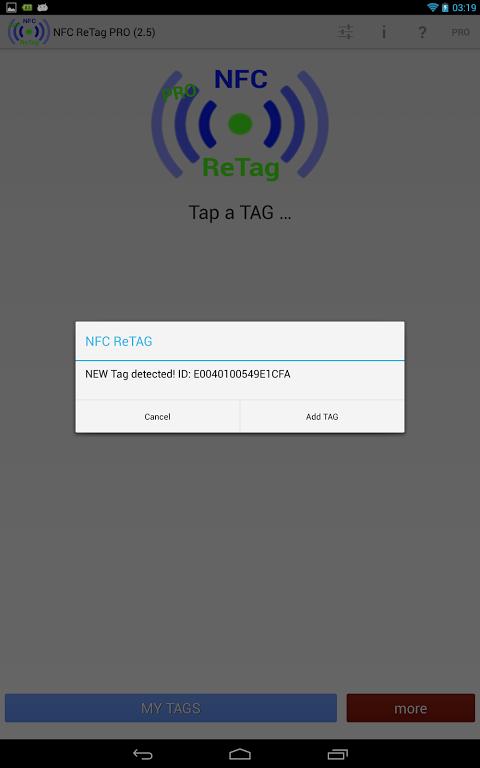 NFC ReTAG PRO screenshot 2