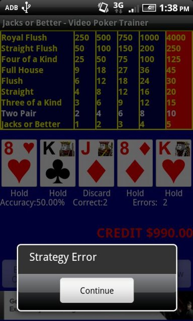 video poker trainer for android
