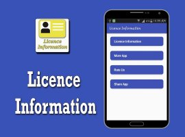 Licence Information Screen