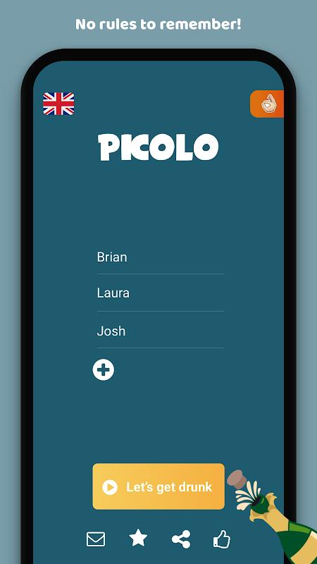 Picolo drinking game screenshot 1
