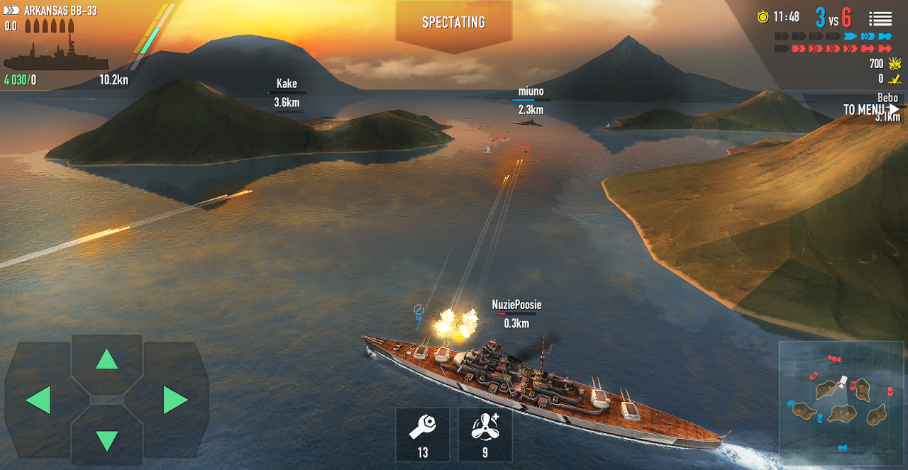 Battle of Warships: Naval Blitz screenshot 1