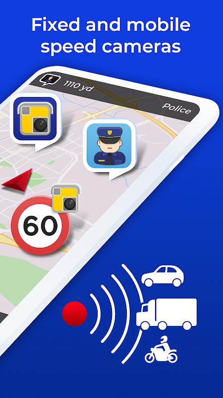 Radarbot Free: Speed Camera Detector & Speedometer screenshot 2