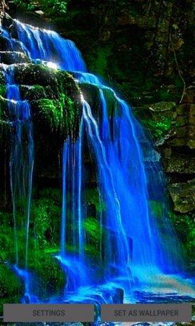 wavy waterfall live wallpaper screenshot 1 ...