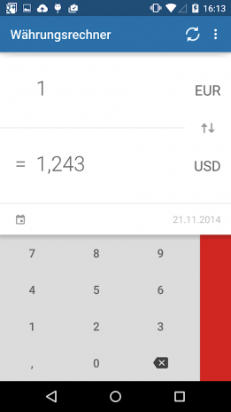 currency converter screenshot 1