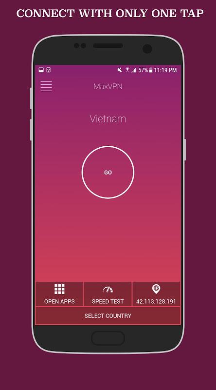 MaxVPN - Free Fast Connect & Unlimited VPN client screenshot 2