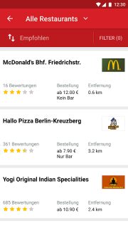 LIEFERHELD | Order Food screenshot 1