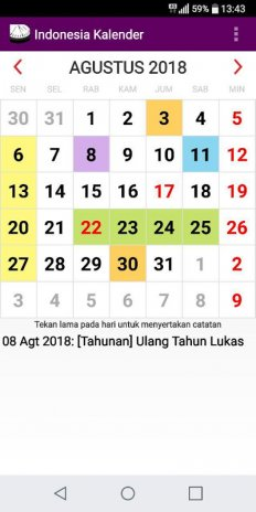 indonesia 2018 national holidays calendar screenshot 5