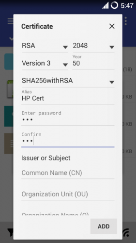 MiX Signer screenshot 1