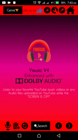 Ymusic V5 : Listen to YouTube Music while Screen is OFF