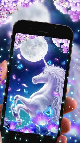 White Unicorn Live Wallpaper Screenshot 1 2