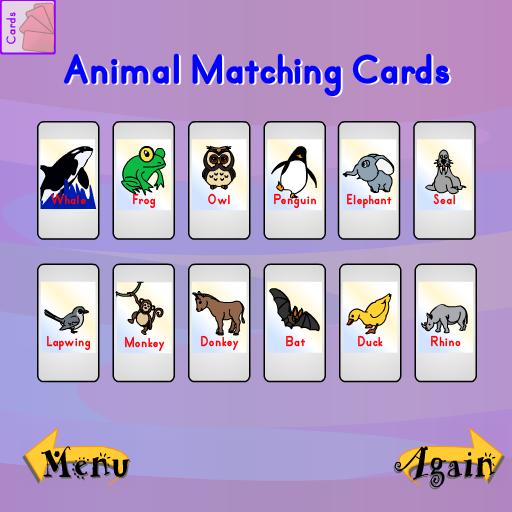 Animal Matching Cards