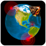 earthquake map 3d earth globe icon
