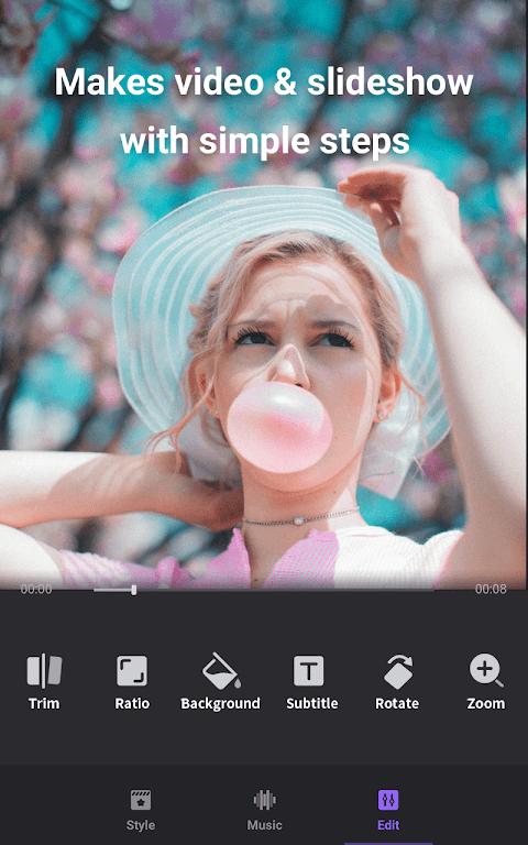 Video Maker: Editor de Vídeo com Fotos e Música screenshot 2