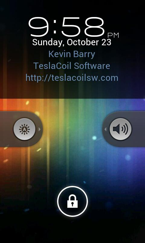 WidgetLocker Lockscreen screenshot 1