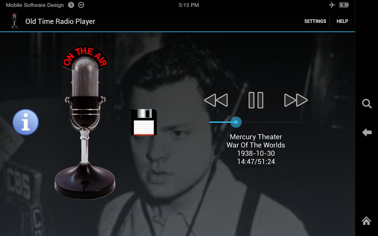 Old Time Radio Player (no ads) screenshot 1