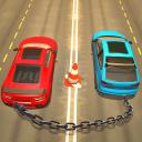 catena di corse automobilistiche 3D