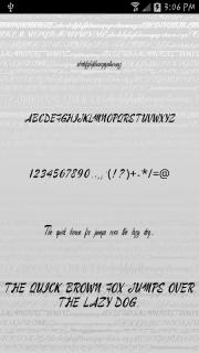 Fonts - Kiss for FlipFont free screenshot 3