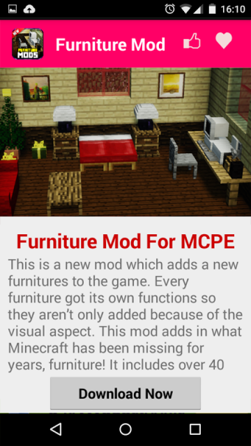 Furniture Mod For Mcpe Download Apk For Android Aptoide