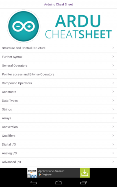Arduino commands cheat sheet download apk for android