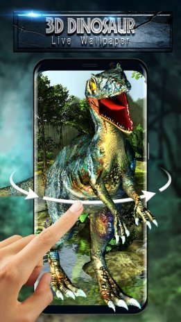 3d Jurassic Dinosaur In The Park Live Wallpaper 2102100