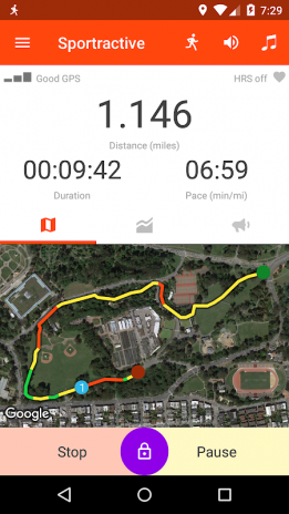 Sportractive GPS Running Cycling Distance Tracker Download APK - Running map distance tracker