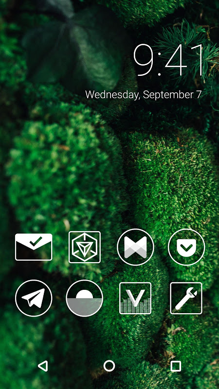 Monoic Monotone White Icon Pack for Nova Launcher screenshot 4