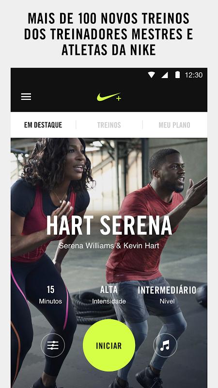 Nike Training Club – Treinos & Exercícios Fitness screenshot 1