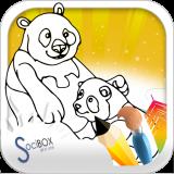 bear coloring book Icon