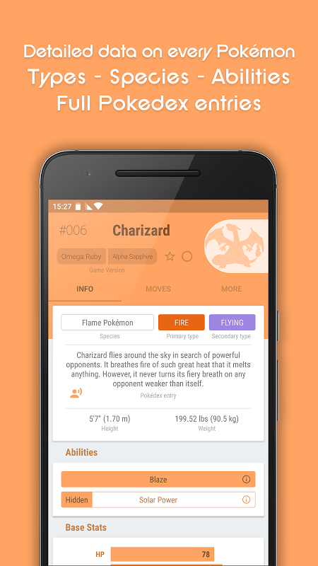 dataDex - Pokédex para Pokémon screenshot 2