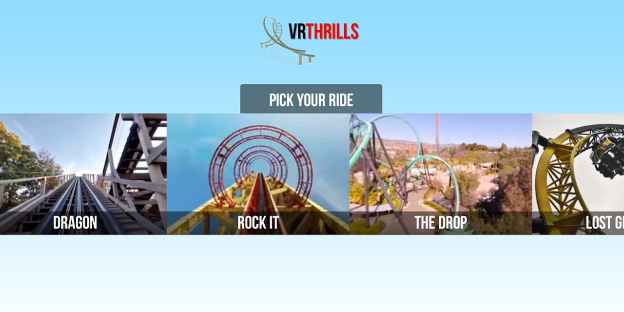 VR Thrills: Roller Coaster 360 (Google Cardboard) screenshot 1