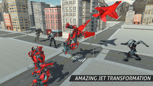 Air Robot Game - Flying Robot Transforming Plane screenshot 2
