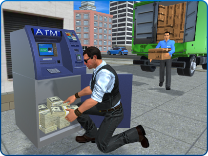 Bank Cash-in-transit Security Van Simulator 2018 screenshot 9