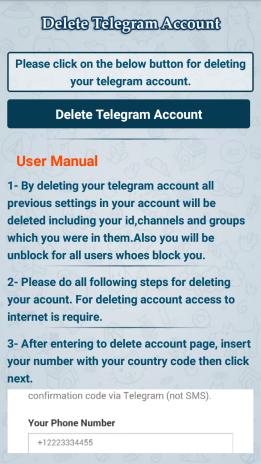 Delete Telegram Account2 0 1 tải APK dành cho Android - Aptoide