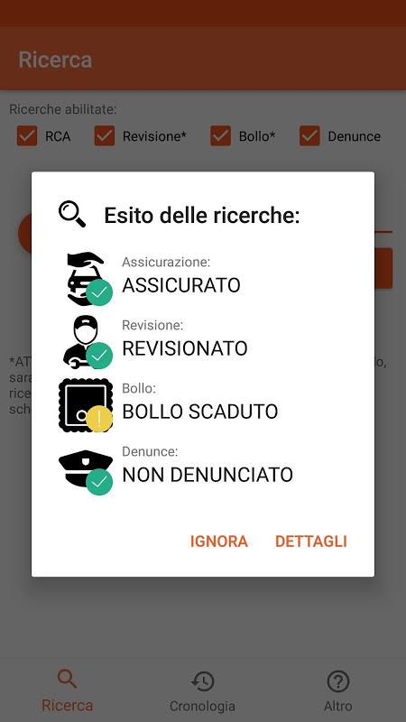 Scanner Veicoli screenshot 2