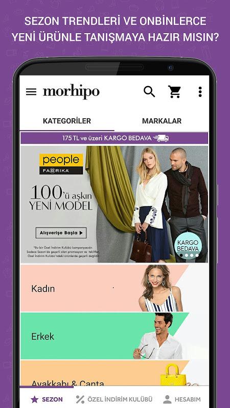 Morhipo screenshot 1