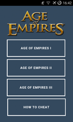 Age of Empires I,II,III Cheats 1 0 Download APK for Android - Aptoide
