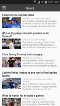 Baseball MLB Schedule 2017 Screenshot
