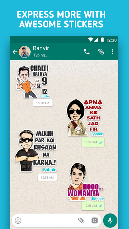 Bollywood Stickers for WhatsApp - WAStickerApps screenshot 2