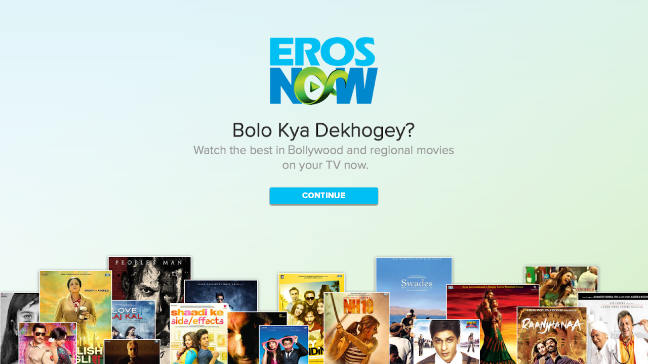 Eros Now for Android TV screenshot 1