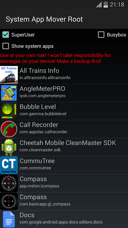 System App Mover Root screenshot 1